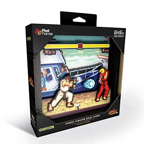 Pixel Frames Street Fighter - Boat Scene S (15 x 15 cm) - Not Machine Specific