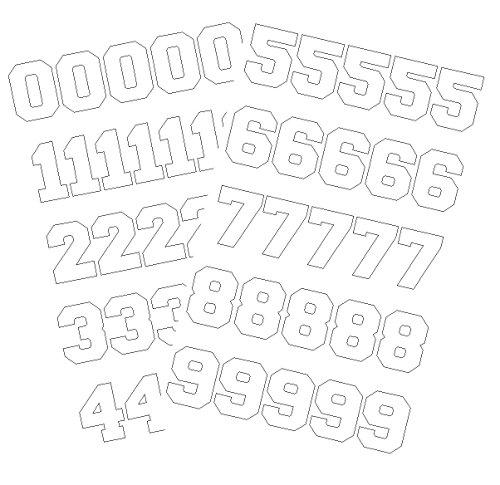 hockey helmet numbers - 3