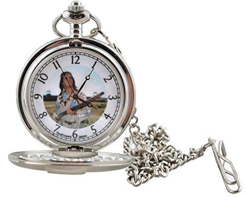 Runde Indianer Taschenuhr Winnetou in Geschenkbox Lizenzartikel Uhr