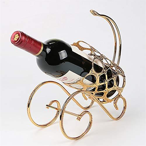 HCYSNG para la decoración del hogar, gabinetes de Barra de Cocina botelleros Vino Práctico Estante para Botellas de Vino Vinoteca de pie (Color : Gold)