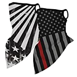 NKeepB 2Pcs Kids Cooling Face Cover Neck Gaiter with Ear Loops Multifunctional Bandana for Summer Cycling Sport Outdoor(GQ08&11-T)