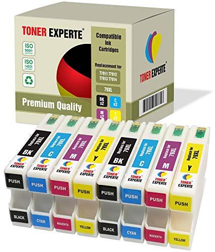 8 XL TONER EXPERTE® 79 79XL Druckerpatronen kompatibel für Epson Workforce Pro WF-4630DWF, WF-4640DTWF, WF-5110DW, WF-5190DW, WF-5620DWF, WF-5690DWF (2 Schwarz, 2 Cyan, 2 Magenta, 2 Gelb)