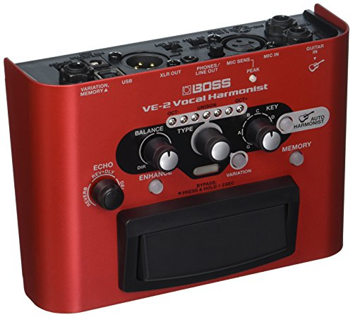 BOSS Vocal Harmonist Effects Processor Stompbox Guitar Pedal (VE-2)