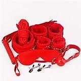 XO-MOK Juego de 8 Juegos de Cama de Color Rojo, Hombres, Mujeres, Cosplay, Juguetes para Jugar, Disfraces Personalizados