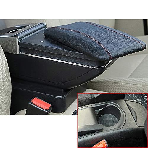 Para 2008-2011 C itroen C4 Auto Apoyabrazos Consola Central Reposabrazos Accesorios Negro