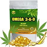 Triple Omega 3 6 9 Softgels - Natural Extract - Vegan Organic Potency of Vitamins A C E B D K - Pain Stress & Anxiety Relief - Sleep & Mood Support - 75,000mg