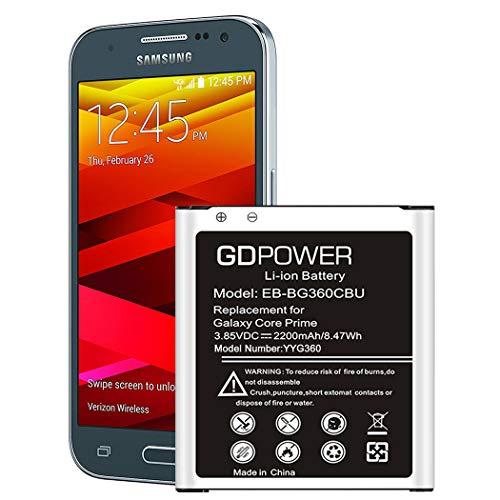 Galaxy Core Prime Battery, 2200mAh Li-ion Battery EB-BG360CBU...