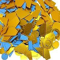 アクリルミラーパーツ ミラーパーツ ミラーストーン 衣装用ミラー ランダムミックス 30peace ゴールド 衣装用パーツ