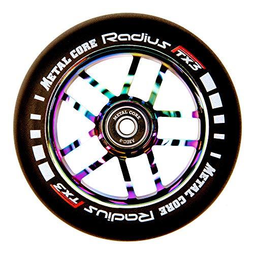 Metal Core Rueda Radius para Scooter Freestyle, Diámetro 120 mm (Rainbow)