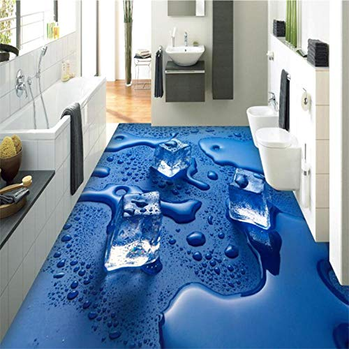 Perlas De Agua Helada Baldosas De Piso 3D Que Personalizan Pinturas Murales Grandes Para La Protección Del Medio Ambiente Y Engrosamiento Wall-400X280Cm Azulejos De Suelo 3D Murales Pegatinas Cuarto