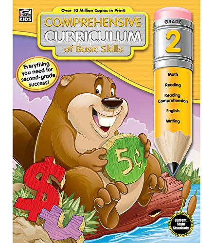 Comprehensive Curriculum of Basic Skills 2nd Grade Workbook—State Standard Lesson Plans and Activity Book for Math, Reading Comprehension, Writing (544 pgs)