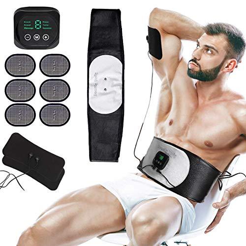 Electroestimulador Muscular, EMS Estimulador Muscular Abdominales con USB Recargable para Abdomen Brazo Piernas Glúteos