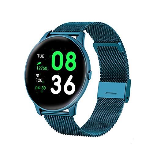 SKTE Reloj Digital De Moda para Mujer, Relojes Deportivos para Hombre, Reloj De Pulsera LED Electrónico para Hombre Y Mujer, Reloj De Pulsera para Mujer (Color : Mesh Belt Blue)