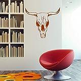 Stickers Muraux Crâne De Vache Décoration Maison Il Peut Se Déplacer Vinyle Art Décoration Chambre D'Enfant Murale Cadeau De Noël