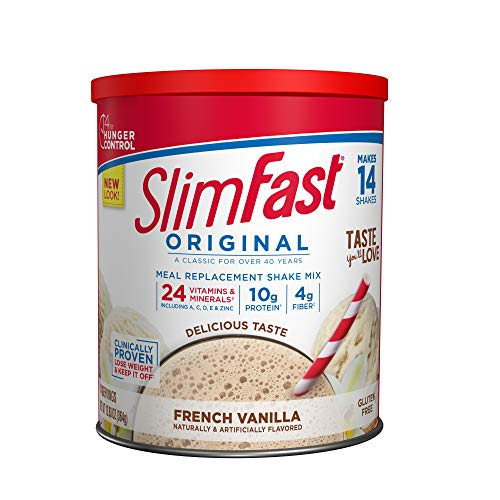 SlimFast Original French Vanilla Meal Replacement Shake Mix – Weight Loss Powder – 12.83 Oz. - 14 Servings - Pantry Friendly