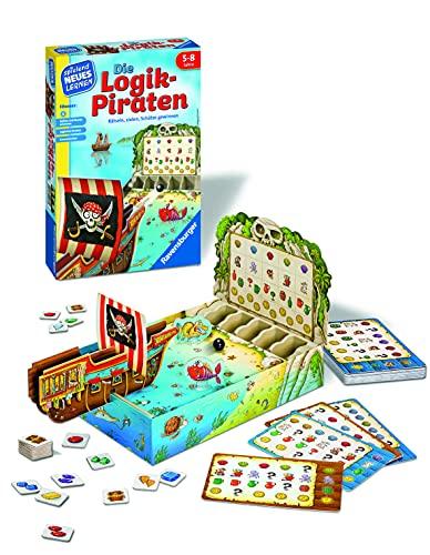 Ravensburger 24969 - Die Logik-Piraten - Spielen und Lernen für Kinder, Lernspiel für Kinder von 5-8 Jahren, Spielend Neues Lernen für 1-4 Spieler