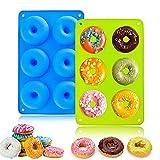LUKIUP® Molde para Donut de Silicona, Juego de 2 Moldes de Silicona para Hacer...