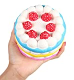 Anboor 4.33' Squishies Jumbo Slow Rising Kawaii Colorful Squishies Strawberry Cake Scented 1 Pcs