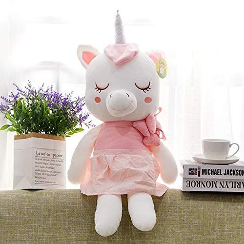 N / A Dibujos Animados de pie Unicornio Figura Peluche Animal Suave Animal unicronio Muñeca rellena Kawaii Anime Regalo de cumpleaños para niño niño 25 cm