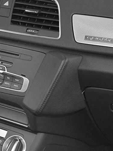 Kuda Telefonkonsole für Audi Q3 ab 10/2011, Kunstleder, Schwarz