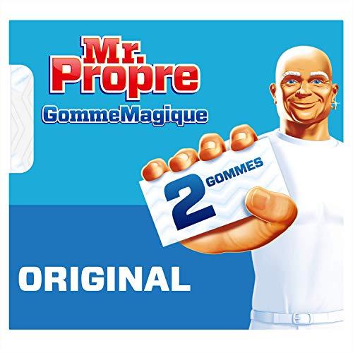 Mr Propre - Spugna magica originale per rimuovere macchie e macchie ostinate, pulizia di tutte le superfici, confezione da 2