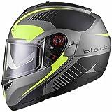 BLACK Optimus SV Tour Motorrad Roller Klapphelm XL Matt Safety Yellow