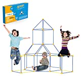 Twirlux Kids Construction Fort Building Kit 90 Pieces Ultimate Forts Builder Gift Build Making Kits Toys for Boys and Girls to DIY Building Castles Tunnels Play Tent Rocket Tower Indoor & Outdoor