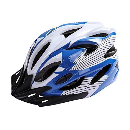 Huai1988 Casco Bicicleta Adulto, Casco Ciclista Casco de Ciclismo Para Adultos de Mate Ajustable Casco Bicicleta MTB con Negra Visera Casco Ciclismo Unisex de Seguridad Protección de Montaña