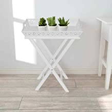 Generic * Table w White Hallway ble w/Tr Tray Timber Side Table w/Side Table w/r White Ha Coffee Furniture urniture Consol...