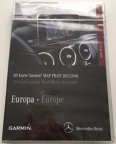 Preisvergleich Produktbild Karte SD GPS Mercedes (Star1) Garmin Map Pilot Europa 2017 / 2018 V9 a2189061903