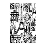 Head Case Designs Official Marianna Mills White Paris Assorted Glossy Vinyl Sticker Skin Decal Cover Compatible for Apple iPad mini (2019)