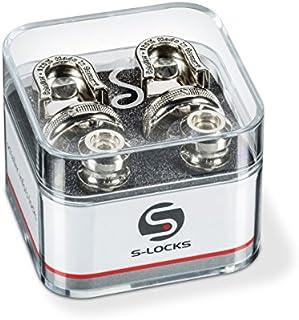 Schaller S Locks Guitar Strap Locks and Buttons (Pair) Nickel