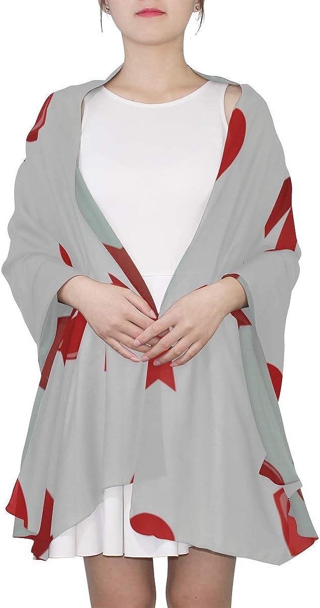 Fashion Scarf Lightweight Bow Daily Fashion Decoration Shawl Wrap Scarf Light Scarf Lightweight Print Scarves Shawl Scarf Lightweight Evening Wrap Shawl