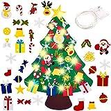 El árbol de Navidad del Fieltro de los 3.3FT DIY fijó + los Ornamentos Desmontables 30pc...