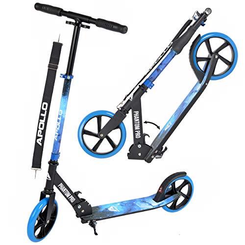 Apollo XXL Wheel Scooter - Phantom Pro City Scooter, Klappbarer City-Roller, höhenverstellbar, Tret-Roller für Erwachsene und Kinder