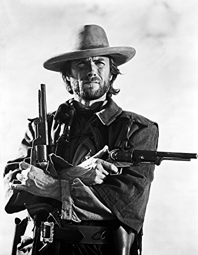 A Portrait Of Clint Eastwood with Guns Photo Print (8 x 10)