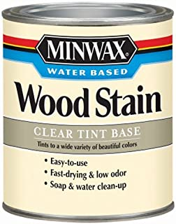 Minwax 618074444 Water-Based Wood Stain, quart, Clear Tint Base
