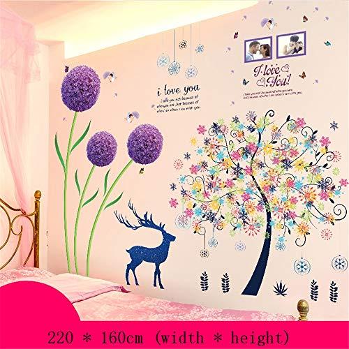 Muursticker3d Stereo Sticker Slaapkamer Bed Hoofd Achtergrond Wanddecoratie Muurpapier Behang Zelfklevend 220 x 160cm O