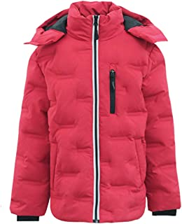 M2C Boys Girls Non Stitch Hooded Insulated Jacket Winter Puffer Coat