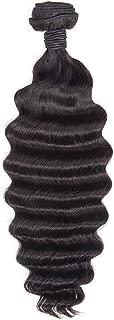 LeShine Hair 9A Deep Wave Bundles Brazilian Virgin Human Hair Bundles Weave Natural Color Human Hair Extension 1 Deep Wave Bundle 18 inch
