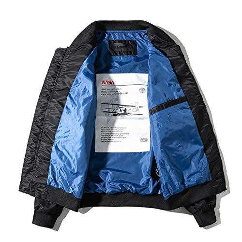 Invierno Grueso Streetwear Hombres Hip Hop Abrigos Militares Bomber Chaqueta Abrigo de otoño Casual Chaqueta Militar Thin Jacket Black Asian 2XL
