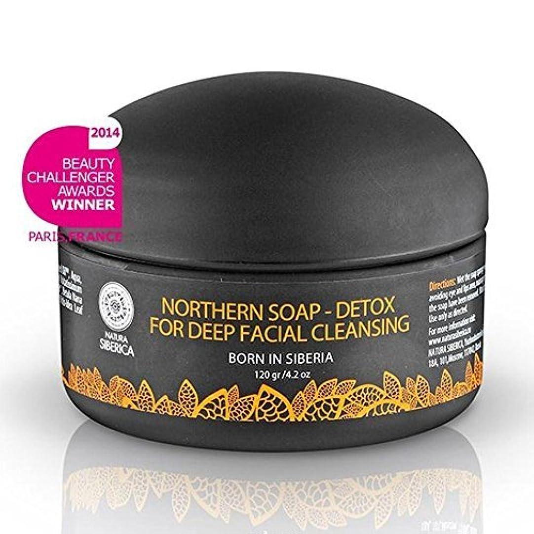 リレー地震電池Northern Detoxifying Soap with Charcoal for a Deep Purifying Effect 120g (Natura Siberica) by Natura Siberica [並行輸入品]