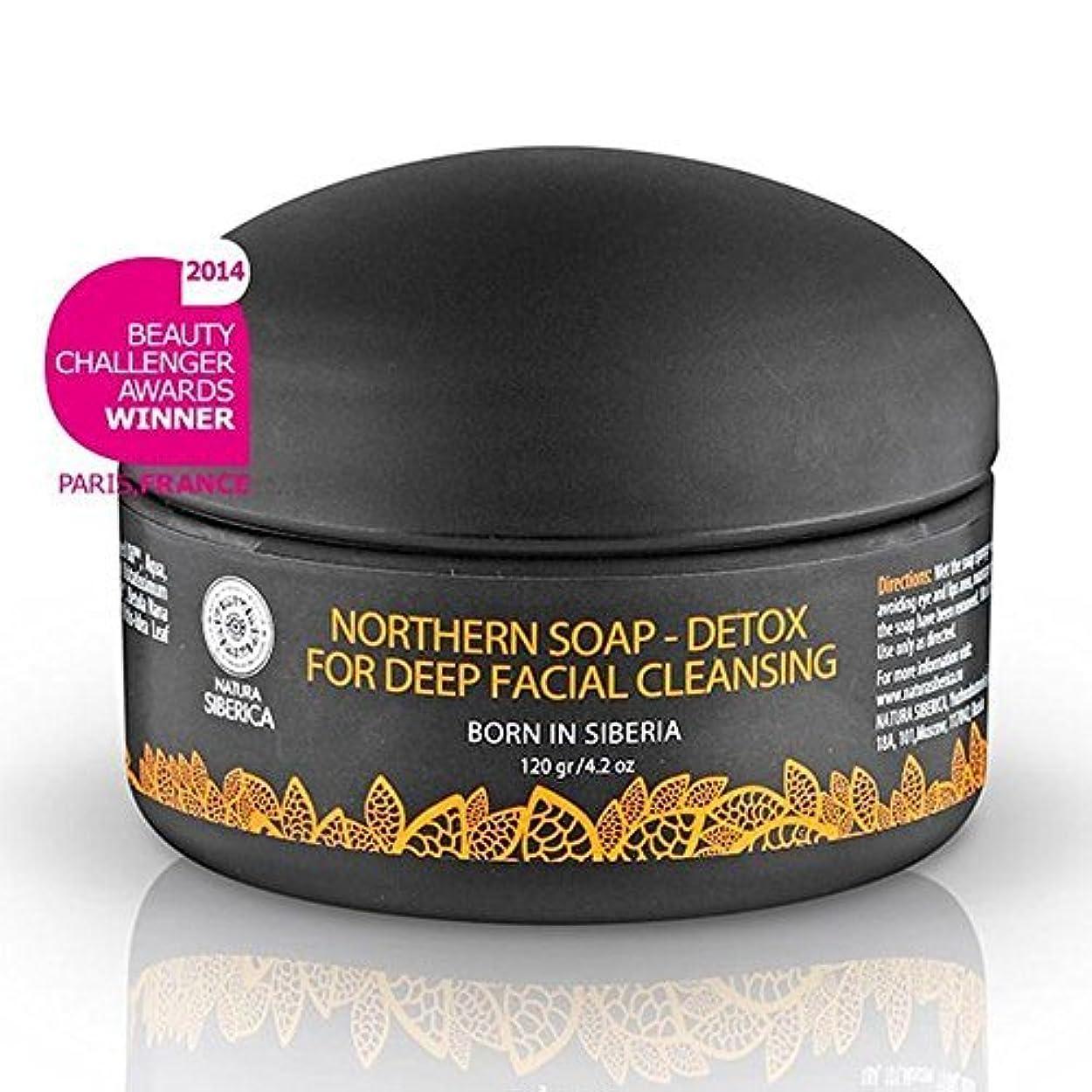 バイオレットマルクス主義姉妹Northern Detoxifying Soap with Charcoal for a Deep Purifying Effect 120g (Natura Siberica) by Natura Siberica [並行輸入品]