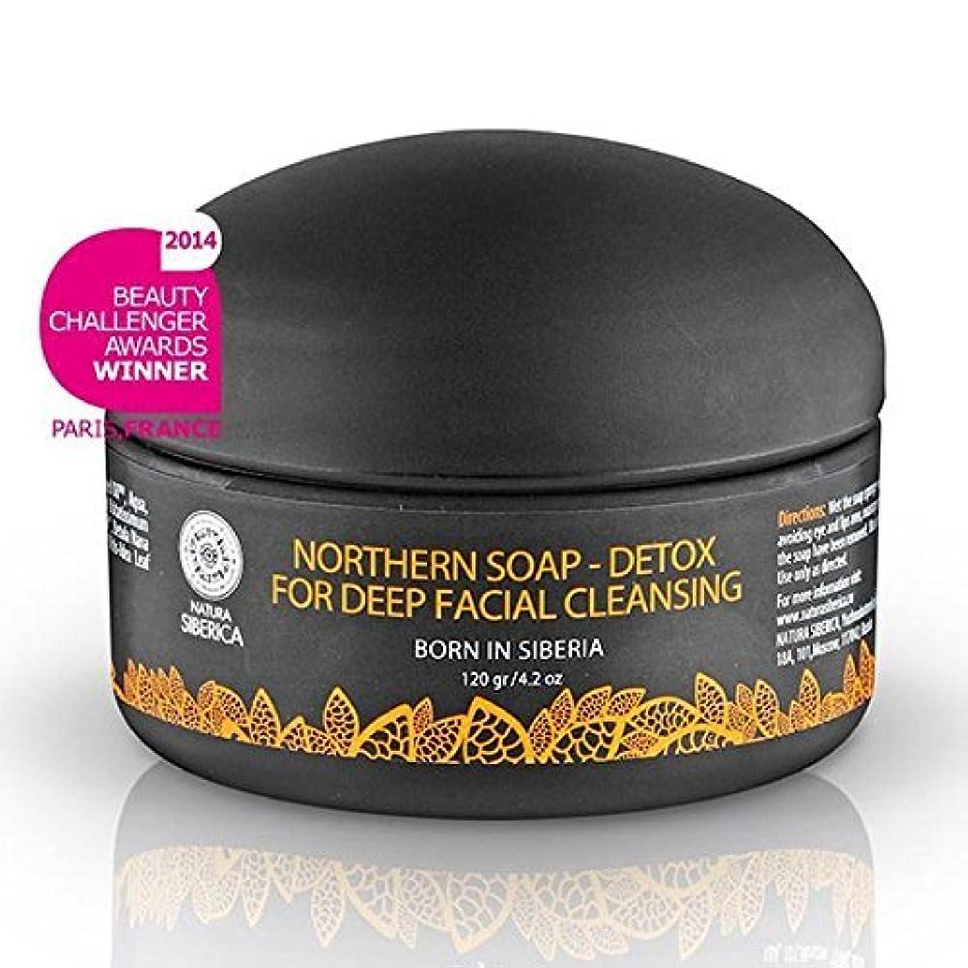 肺君主制骨折Northern Detoxifying Soap with Charcoal for a Deep Purifying Effect 120g (Natura Siberica) by Natura Siberica [並行輸入品]
