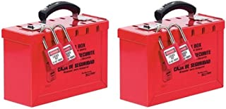 Master Lock Lockout Tagout Lock Box, Latch Tight Portable Group Lock Box, 498A (Pack of 2)