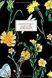 Ich werde Dich niemals vergessen: Passwortbuch zum Organisieren und Verwalten von Internet-Zugangsdaten und Passwörtern | Register mit Gliederung von ... | Motiv AV 013 'dark flower' | Softcover
