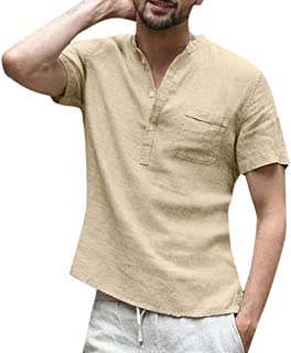 LOVELYOU Homme Chemise /Ét/é Slim L/âche Hawa/ïenne Manches Longues Impression Turn-Down Collar Tops Hauts T-Shirt Chemisier