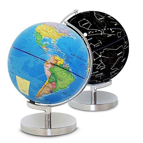 SuRose Globo, Globo LED para el hogar para niños Globo Iluminado Mundo Constelación Globo Vista Nocturna Juguete de Aprendizaje de geografía