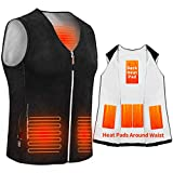 Anoopsyche Electric Heated Vest, USB Charging Heated Jacket for Men and Women 3-level Heating for 8 Hours, 5 Heating Pads, Heated Clothes Jacket for Warmth, Outdoor Work, Ski, Hiking(NO Power Bank)