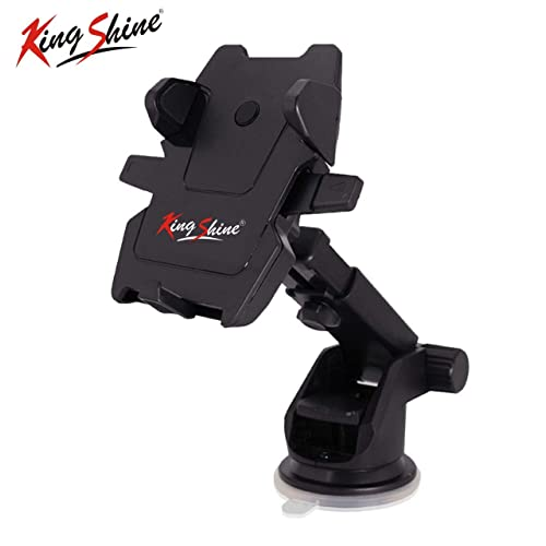 King Shine Universal 360° Rotation Silicone Sucker Long Neck Car Mount Mobile Holder with Ultimate Reusable Suction Cup